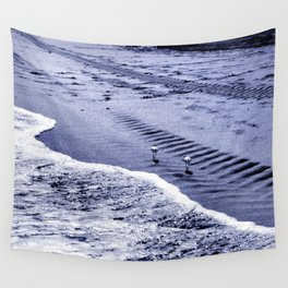 two blue sandpipers Wall Tapestry