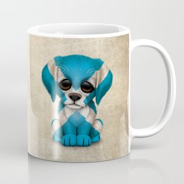 Cute Puppy Dog with flag of Scotland Coffee Mug
