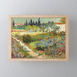 Vincent van Gogh - Garden at Arles Framed Mini Art Print