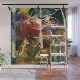 Franz Marc - Deer in the Forest Wall Mural