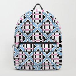 symetric tartan and gingham 17 -vichy, gingham,strip,square,geometric, sober,tartan Backpack