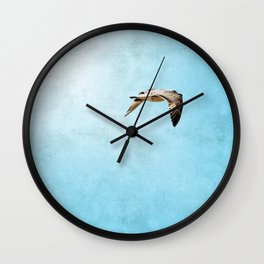 Bird in flight ;Into the Mystic Wall Clock
