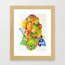 The Family, illustration made by Ines Zgonc Framed Art Print