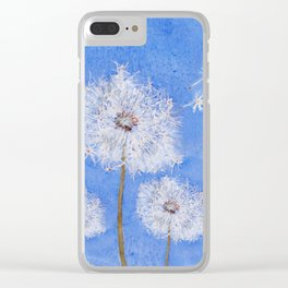 flying dandelion watercolor painting Clear iPhone Case