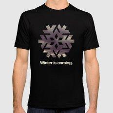 Winter is coming. Mens Fitted Tee Black MEDIUM