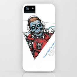 Skull Dj Music Robot Cyborg Android Horor Party Artwork iPhone Case