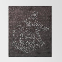 Anubis Egyptian God Throw Blanket