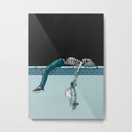 Skate 'til Late Metal Print