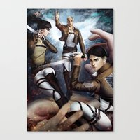 onward Canvas Prints featuring Onward by Meder Taab