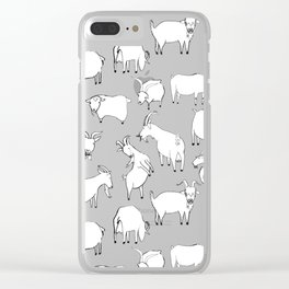 Green Goats Clear iPhone Case