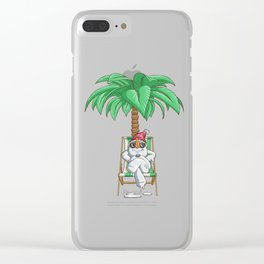 Snowman Christmas In July Clear iPhone Case