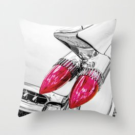 Cadillac Tail Fins, Mid Century Car Art by Murray Bolesta Throw Pillow