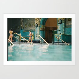 Budapest Gellert Baths & Spa with a View from the Pool Art Print