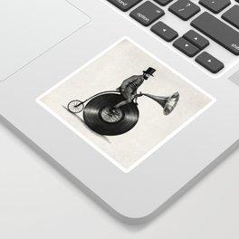 Music Man (monochrome option) Sticker