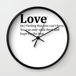 Funny Love Dictionary Meme Wall Clock