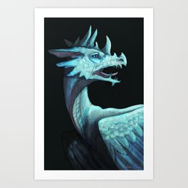 Pale dragon Art Print