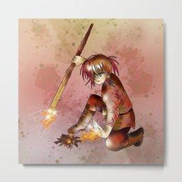 Firelight dnd druid Metal Print