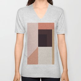 Abstraction_Colorblocks_001 Unisex V-Neck