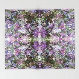 Psychedelic Positive Notes Lavender Zoom Throw Blanket