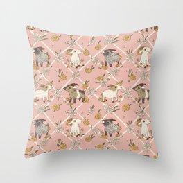 goat pattern 2 Throw Pillow