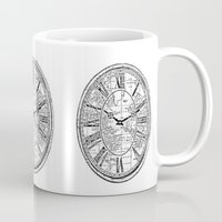 clock Mugs featuring Clock by Mr and Mrs Quirynen