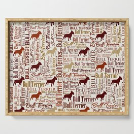 Bull Terrier Dog Word Art pattern Serving Tray