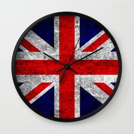 Union Jack Grunge Flag Wall Clock
