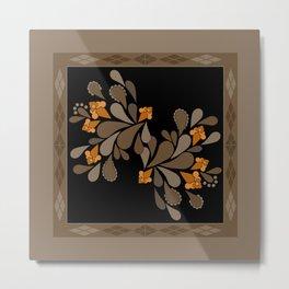 Ethnic floral ornament 3 Metal Print