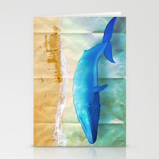 the beauty beneath _ humpback whale Stationery Cards