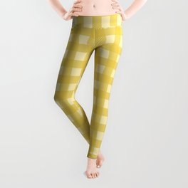 Mustard Yellow Buffalo Checks Leggings