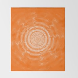 Ripples_Orange Throw Blanket
