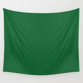 Christmas Deep Green solid colour Wall Tapestry