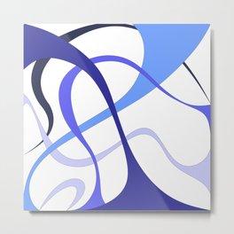 Blue ribbons by Freddi Jr Metal Print