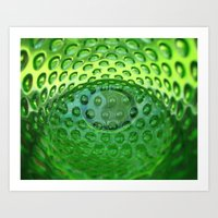 emerald Art Prints featuring Emerald by Evan Gaskin