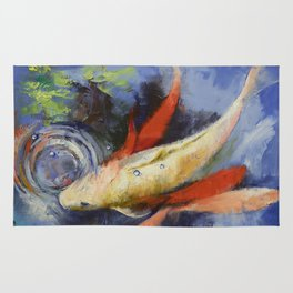 Koi and Water Ripples Rug