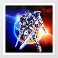 gundam Art Prints featuring Gundam Wing by bimorecreative