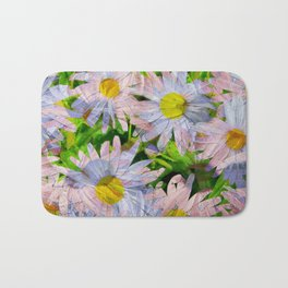 DAISEY MADNESS ABSTRACT  Bath Mat