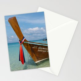 Long Tail Boat, Bamboo Island, Phi Phi Islands, Thailand Stationery Cards