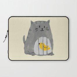 A cat that swallows a bird Laptop Sleeve