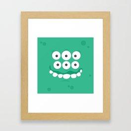 Psychos - Crazy Monsters (Turquoise) Framed Art Print
