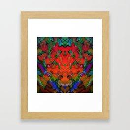 The inevitable red step Framed Art Print