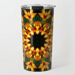 Iris 002.8, Floral mandala-style Travel Mug