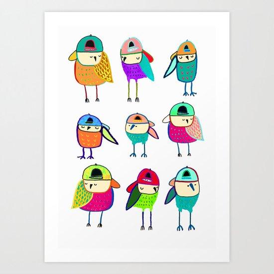 Little Owls. Art Print