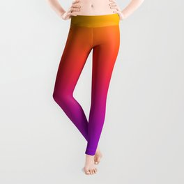 Colorful Gradient Pattern Neon Abstract Rainbow Leggings