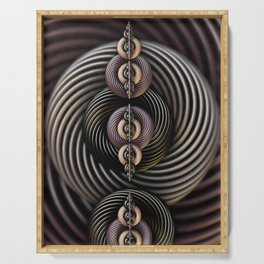 Torsion Twist. Abstract Art Serving Tray