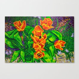 View of Tulips Canvas Print