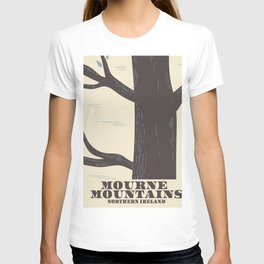 mourne mountains northern ireland travel poster T-shirt