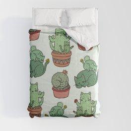 Cacti Cat pattern Comforters
