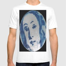 VENUSIAN FACE IN CREDIT CARDS  White Mens Fitted Tee MEDIUM