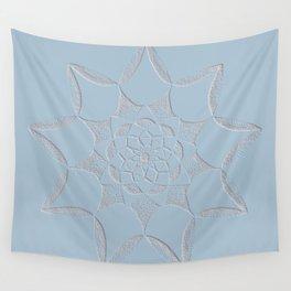 Dot Mandala Light Blue - 3D Pointilism Wall Tapestry
